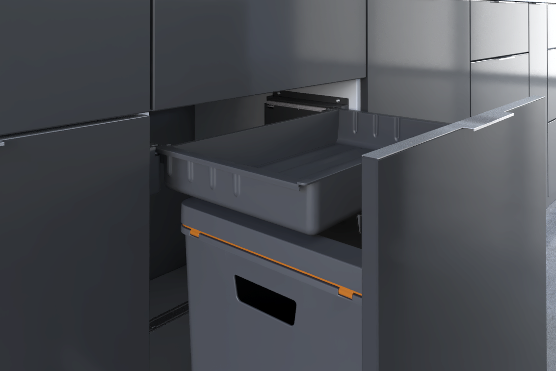 Simple to clean - clever waste separation systems for the kitchen.