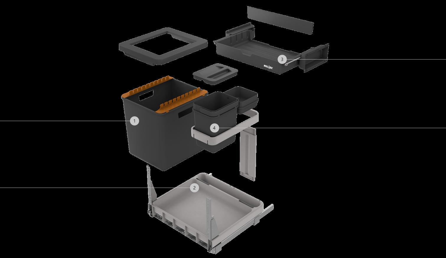 BOXX-R Abfallsysteme - ideal für die Küchenrenovation.